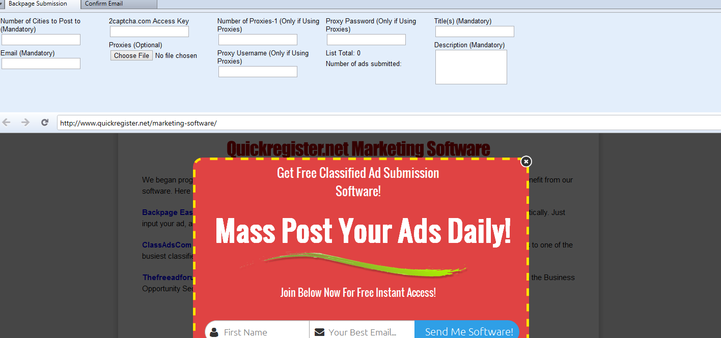 how to post an ad on backpage
