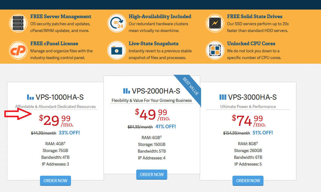 Inmotion Hosting VPS Packages